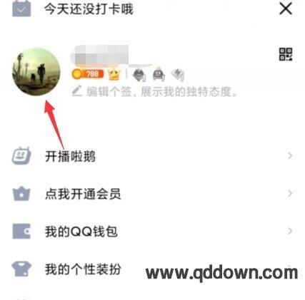 手机QQ资料卡背景怎么更改成自己相册图片