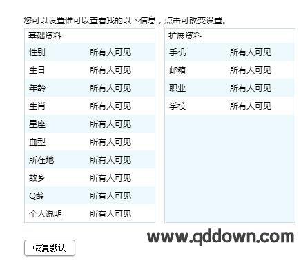 手机QQ怎么设置不让别人查看自己的QQ资料